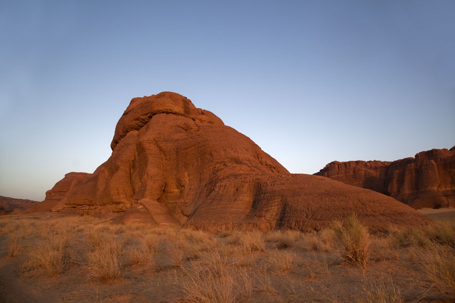 Picture of Terkei Kisimi (Chad): Warm sunlight on one of the rock formations of Terkei Kisimi