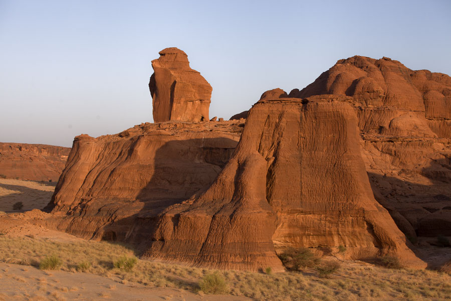 Rock formations at Terkei in the early morning | Terkei Kisimi | Chad