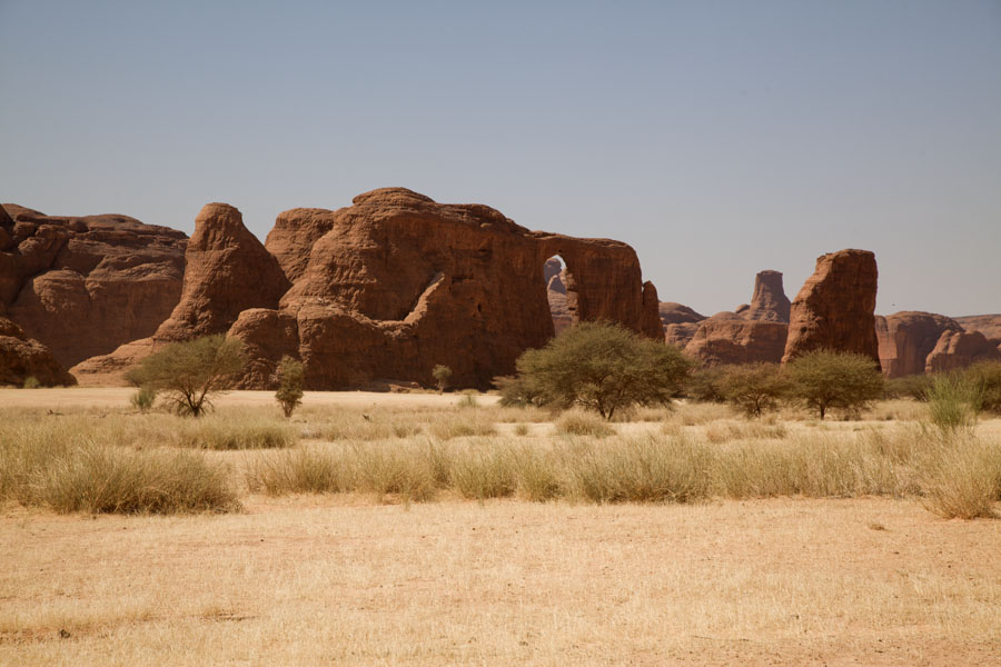 Picture of Group of rock formations in the landscape of Tokou