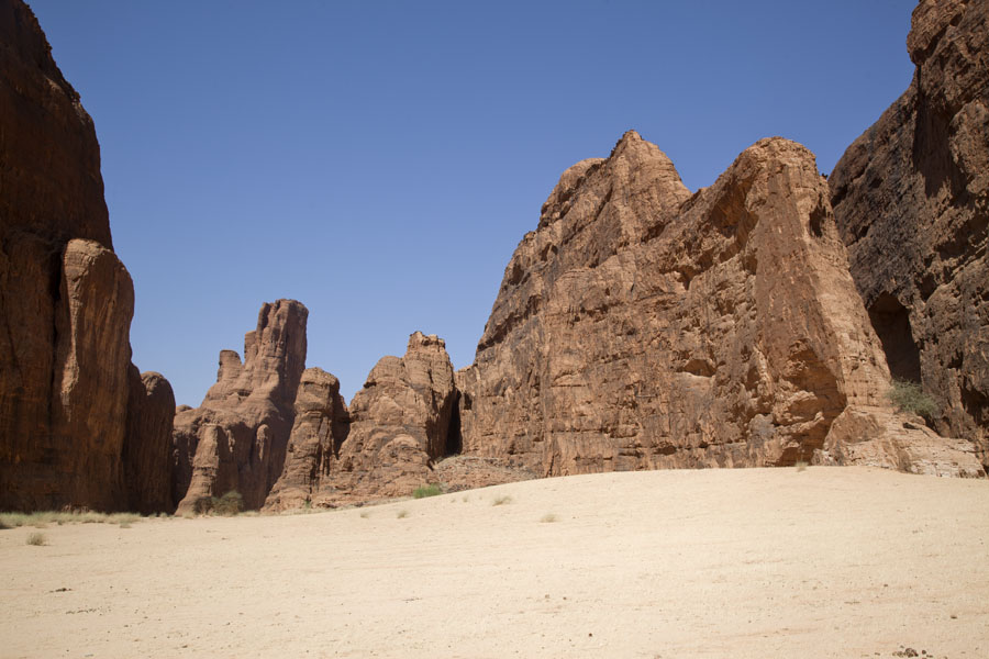 Picture of Tokou massif (Chad): Group of vertical rock walls in the Tokou massif