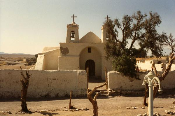 Picture of Spanish church in Atacama desert