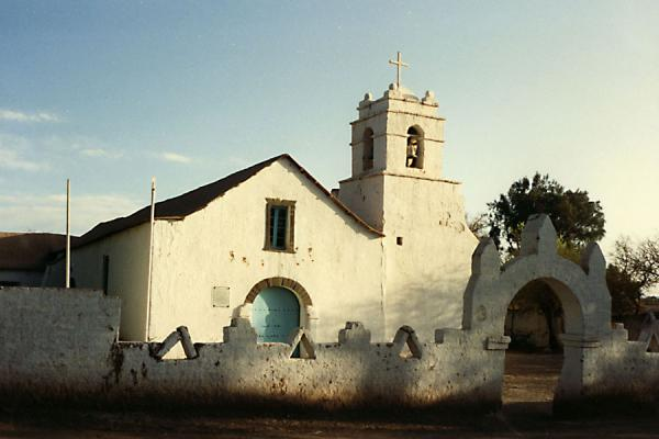 Small colonial church near San Pedro de Atacama | Deserto di Atacama | Cile
