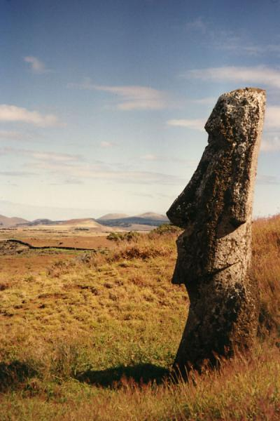 Picture of Statue near the quarry on Easter Island - Chile - Americas