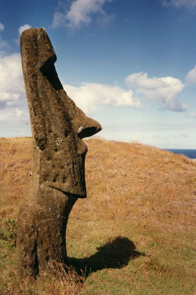 Side view of a statue on Easter Island - 智利 - 北美洲