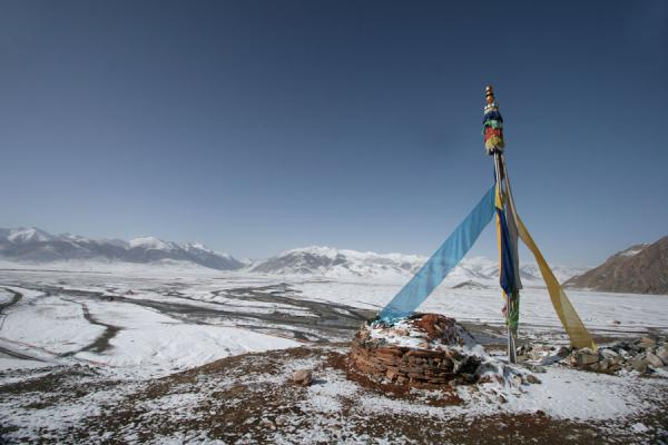 Picture of Batang sky burial (China): View from Batang sky burial site