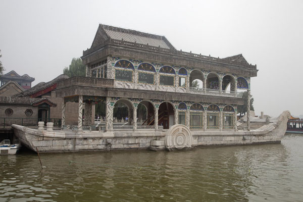 The Marble Boat, replacing the wooden version destroyed by fire in 1860 | Summer Palace | China
