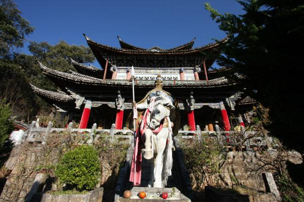 Five Phoenix Hall and guardian on horse | Black Dragon Pool | China