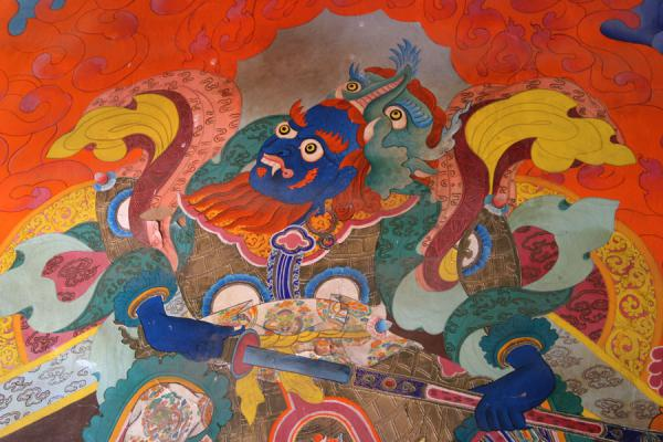 Wall painting of Tsozong monastery in Draksum-tso | Draksum-Tso | China