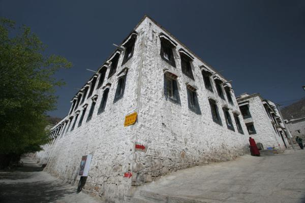Picture of Drepung monastery (China): Building at entrance of Drepung monastery