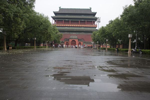 The Drum Tower seen from the Bell Tower | Drum tower | China