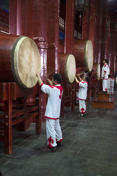 Photo de Drum performance in the Drum Tower - Chine - Asie