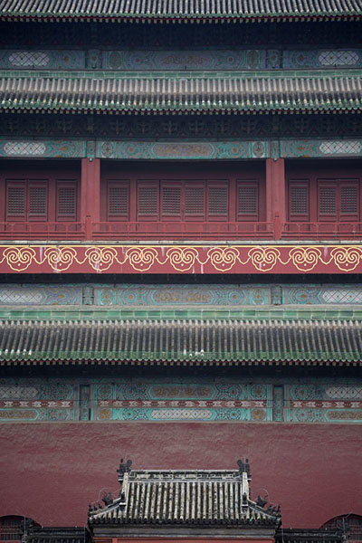 Close-up of the Drum Tower | Torre del Tambor | China