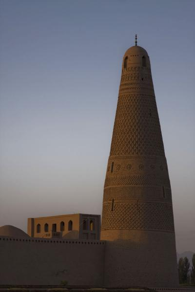 Picture of Emin minaret (China): View of Emin minaret at sunset