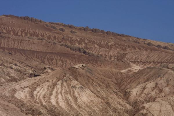 Picture of Part of the Flaming Mountains with lines and trenches