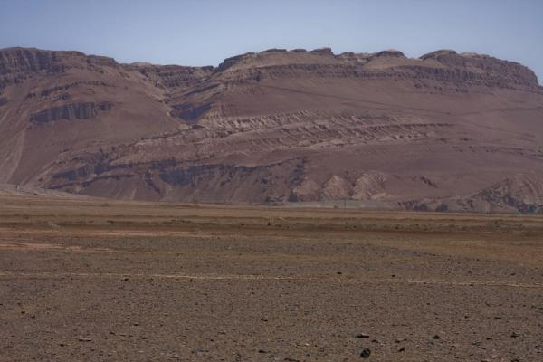 Picture of Part of the Flaming Mountains seen from a distance