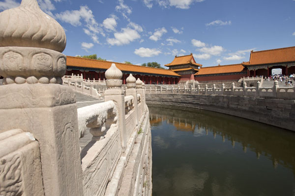 The Golden Stream runs through the courtyard of the Gate of Supreme Harmony | Forbidden City | China
