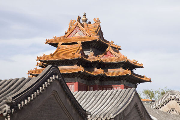 The northeast Corner Tower towers over the Forbidden City | Forbidden City | 中国