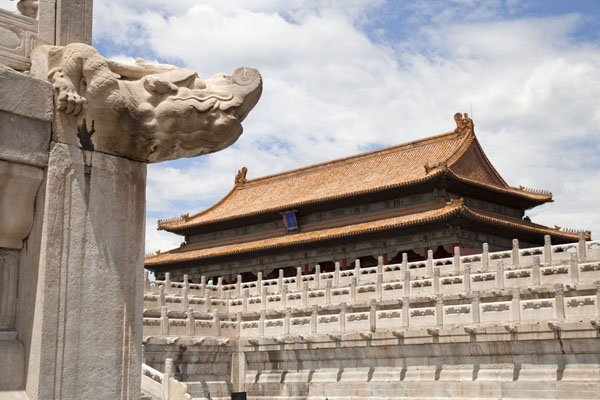 Looking up at the Hall of Preserving Harmony | Forbidden City | 中国