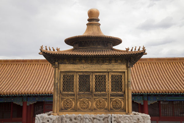 Small golden structure next to the Hall of Union and Peace | Forbidden City | China
