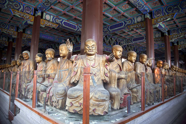 Hall of Arhats in Biyun Temple near Fragrant Hills park | Fragrant Hills | Chine