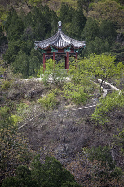 Foto van Pavilion in Fragrant Hills parkBeijing - China