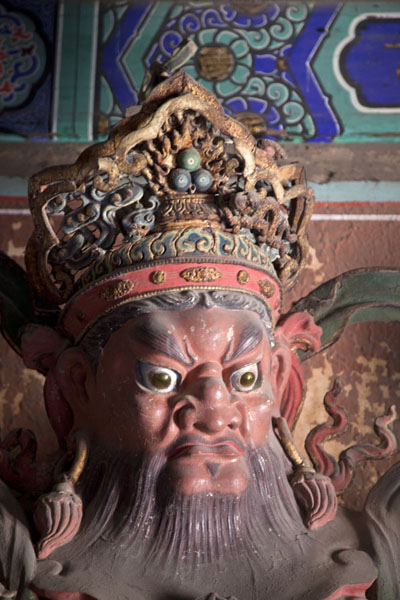 Close-up of Guangmu, the Western Heavenly King, one of the four heavenly kings | Fragrant Hills | China
