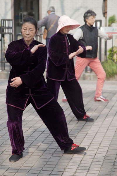 Picture of Practising tai-chi in Fuxing ParkShanghai - China