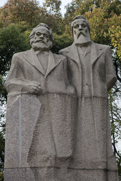Karl Marx and Friedrich Engels have their own corner in Fuxing Park | Parc Fuxing | Chine