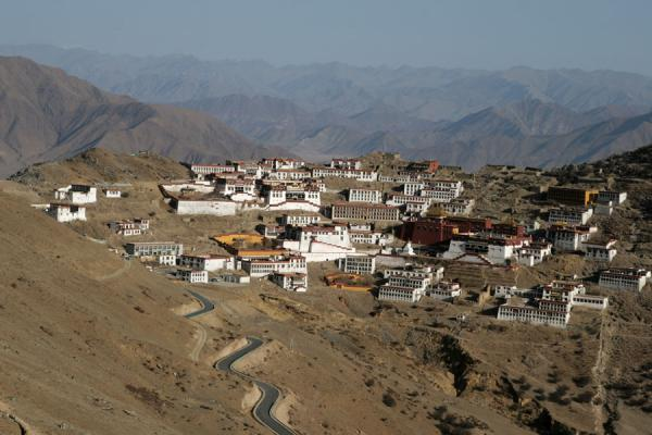 Ganden Monastery seen from a distance | Ganden Monastery | China