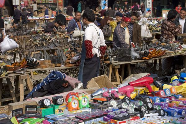 Picture of Gedong market (China): Market stalls at Gedong market