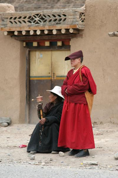 Taking a break from walking the kora at Gyanak Mani | Gyanak Mani | China