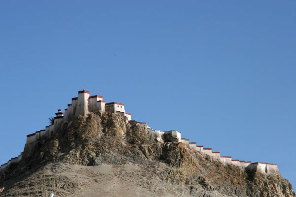 Gyantse Dzong or fortress seen from a distance | Gyantse fortress | China
