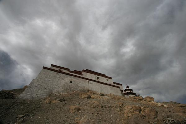 Gyantse fortress seen from below | Gyantse fortress | China