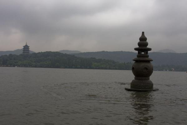 Picture of One of the Three Pools mirroring the Moon: three sculptures in the West Lake near Lesser Yingzhou Island