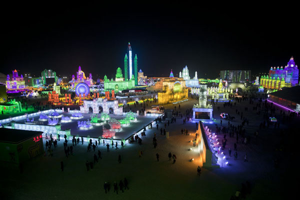 View over much of the Ice and Snow World exhibition | Ice and Snow World | China