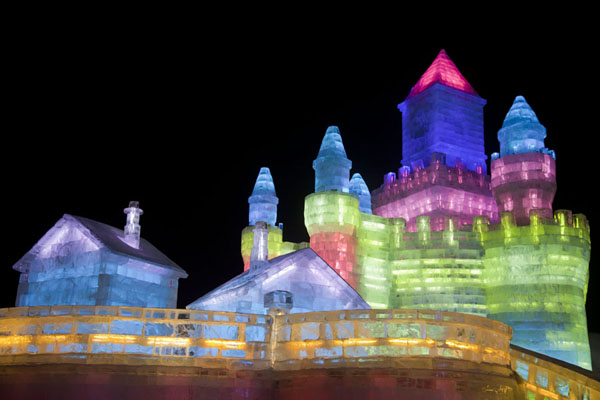 Bright colours make this ice castle look spectacular | Ice and Snow World | China