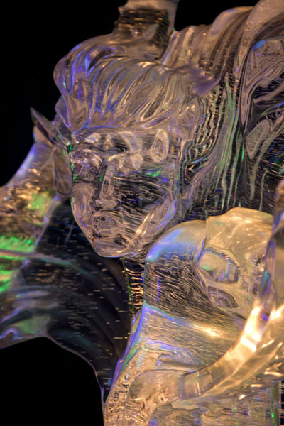 Lady sculpted out of ice | Ice Lantern Art Show | China