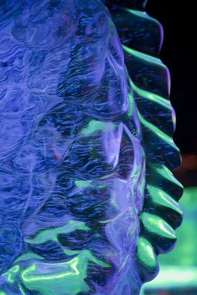 Close-up of a fish sculpted of ice | Ice Lantern Art Show | China
