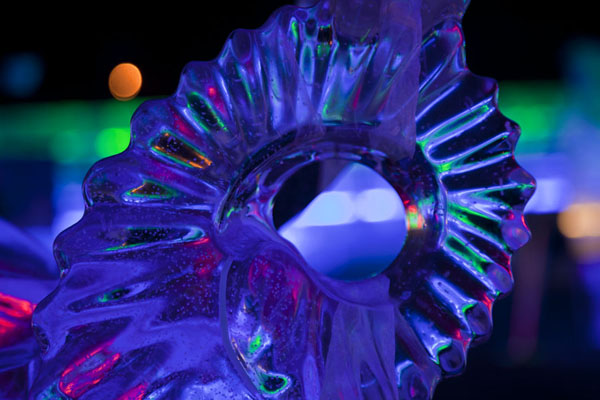 Detail of an ice sculpture in the exhibition | Ice Lantern Art Show | China