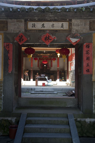 Picture of Hongkeng Tulou Cluster (China): Gate inside Kuiju Lou tulou