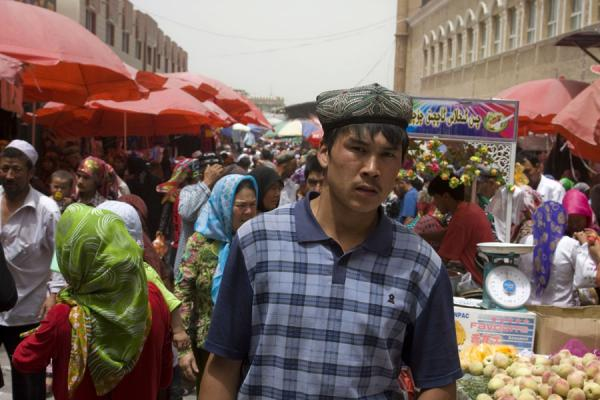 The market of Hotan attracts many Uyghur people | Hotan Bazaar | China