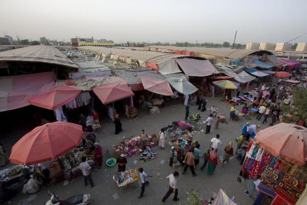 View of Hotan bazaar from above | Hotan Bazaar | China