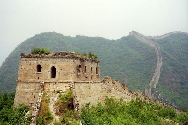 The wall seems to go on forever... | Huanghua Great Wall of China | China