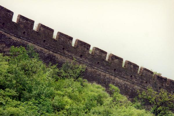 Picture of Sturdy Great Chinese Wall on the crest of a hill