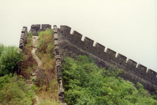 The Great Wall making a turn on the top of a hill | Huanghua Great Wall of China | China