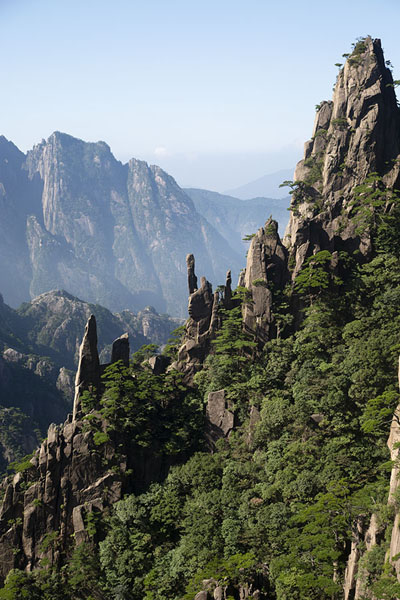 View from the trail leading into the West Sea Canyon | Huangshan Mountains | China