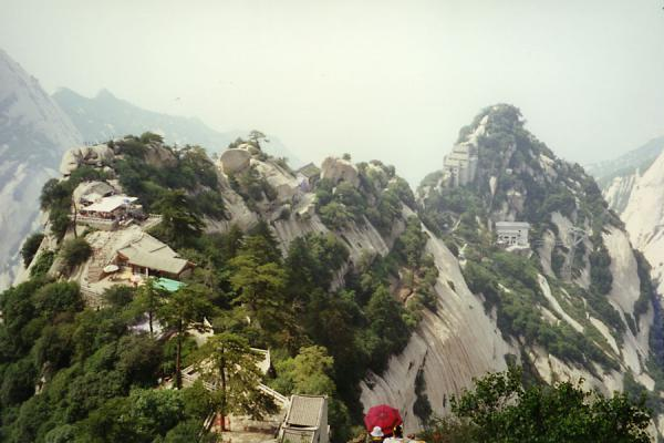 The trail over Huashan Mountain leads over the spine of the mountain | Huashan Mountain | China