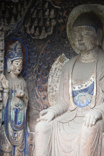 Foto van Close-up of the biggest BuddhaJiajiang - China