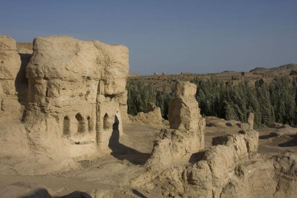 View of part of the Jiaohe Ruins | Jiaohe Ruins | China