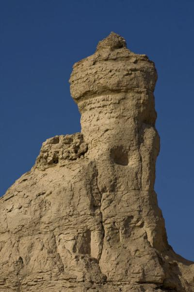 Picture of Jiaohe Ruins (China): Remains of tower at Jiaohe Ruins